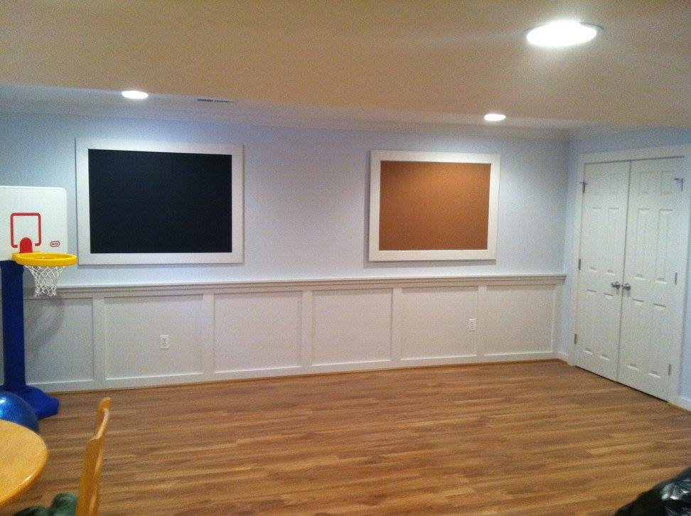 Finished Basement. Finished Basement. Custom Built Chalk U0026 Cork Board To  Cover Crawl Space Access